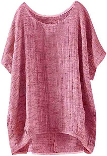 Imagen deDarringls_camisetas para Mujer,Verano Camiseta Costura Cruz de Banda Manga Corta Casual Suelto Blusas