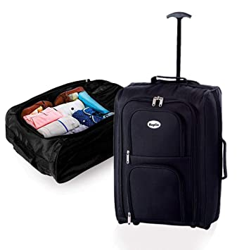 7b0bb7a78 Keplin Lightweight Wheeled Cabin Approved Travel Bag Suitcase Trolley Hand  Luggage, Black: Amazon.co.uk: Luggage