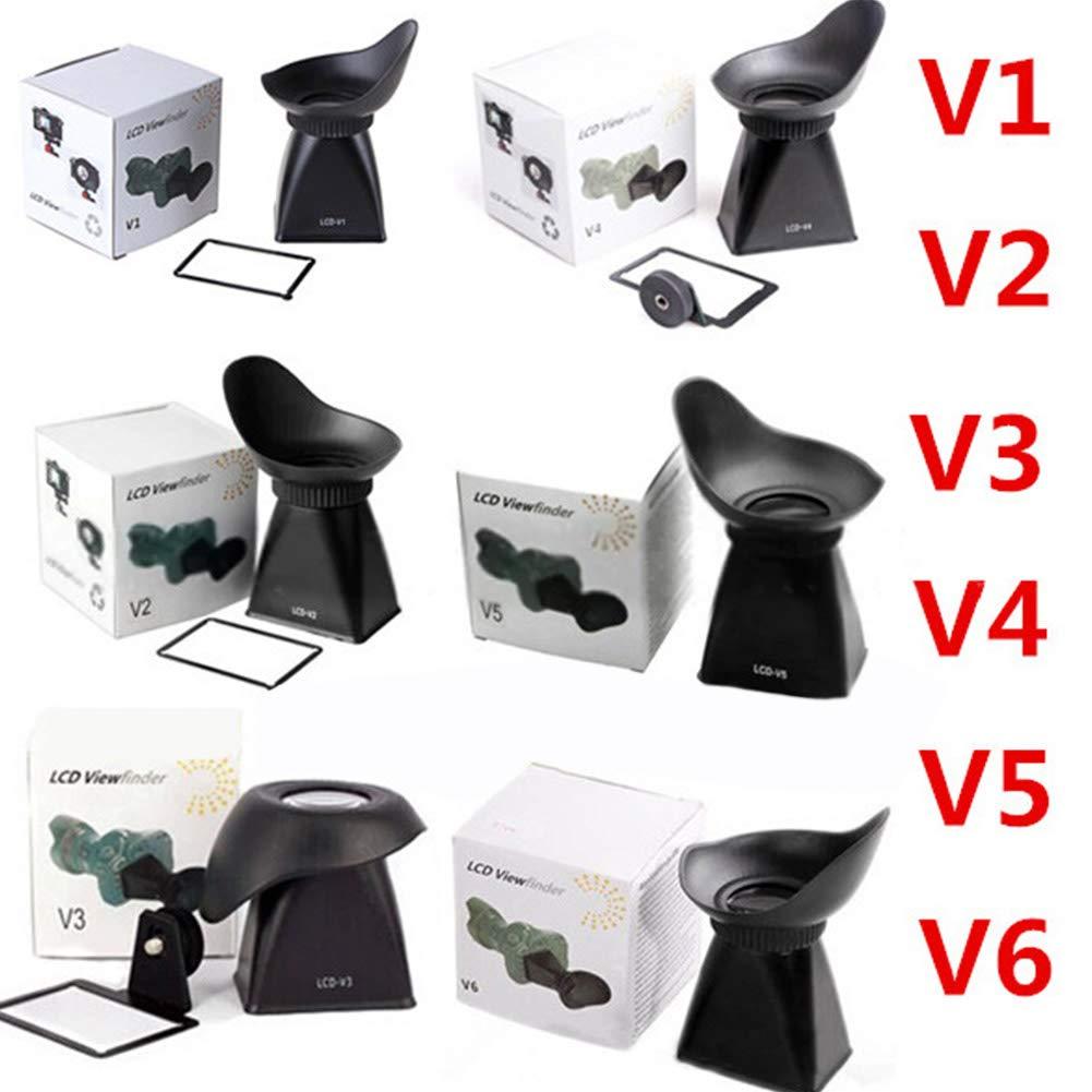 Amyove V1 V6 Visor LCD Lupa Eyecup Capucha for Canon 600D 60D 550D 5D Mark III Nikon D90 V2 V4 V5 V2 V3