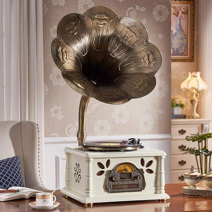 GOM Reproductores de discos clásicos para vinilo con bocina ...