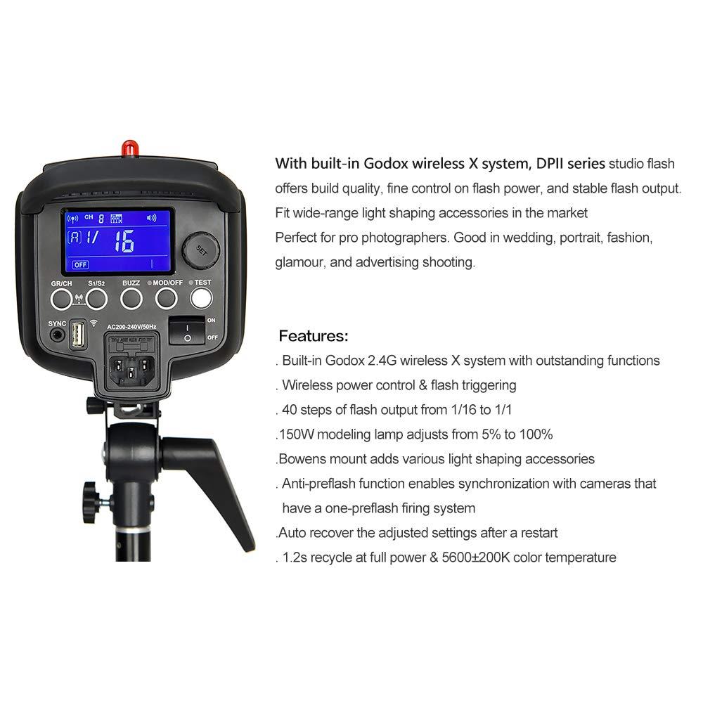 GODOX DP600II GN80 600Ws 2.4G HSS 1//8000s Studio Strobe Flash Light