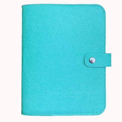 Harphia A5 Binder, Spiral Notebook Binder, Wool Felt Notebook (Mint Blue, A5 9 x 6.69)
