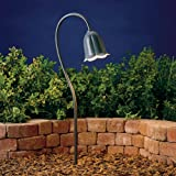 15349MST Tulip 1LT Incandescent/LED Hybrid Low Voltage Landscape Path and Spread Light, Textured Midnight Spruce Finish
