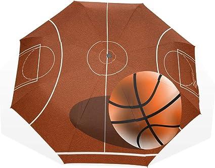 jolie et colorée pas de taxe de vente vente discount XiangHeFu Terrain de Basket Parapluie 3 Plis léger Anti-UV ...