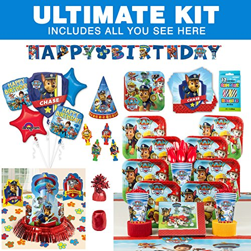 Costume SuperCenter Paw Patrol Birthday Party Supplies Ultimate Tableware Kit ()