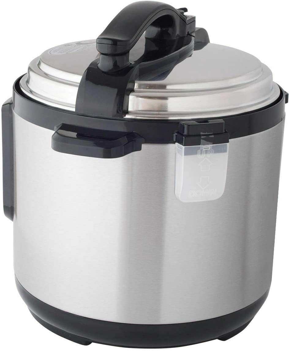 Wavecurl 1250W 8 Quart Electric Pressure Cooker Programmable Multi-Use Stainless Steel