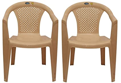 Charmant PRIMA 2008 Plastic Stacking Chairs (Beige_Set Of 2)