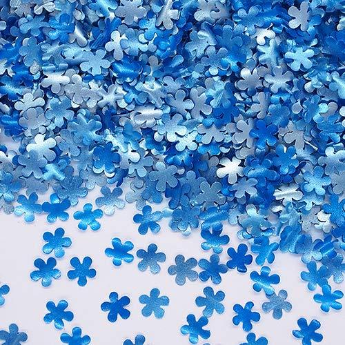 Natural Edible GMO Sugar Nuts Gluten Soy Free Glitter Flower (Blue)