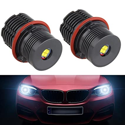 Juego de 2 bombillas LED H8 de 80 W sin errores para BMW E39, E53
