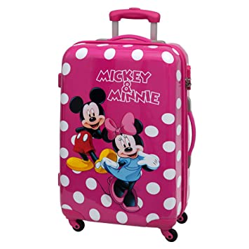 Disney Minnie y Mickey Lunares Maleta Mediana Rígida, Color Rosa, 53 litros: Amazon.es: Equipaje