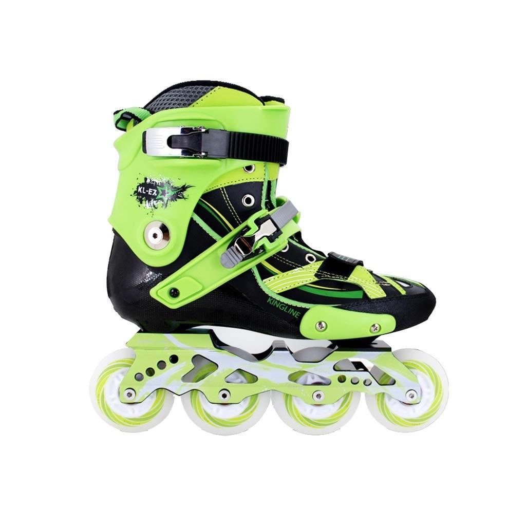 Ailj インラインスケート、 大人用1列スケート スケート プロの男性用と女性用のスケート靴(2色) (色 : Orange, サイズ さいず : 40 EU/7.5 US/6.5 UK/25cm JP) B07MW6G871 45 EU/12 US/11 UK/27.5cm JP|Green Green 45 EU/12 US/11 UK/27.5cm JP