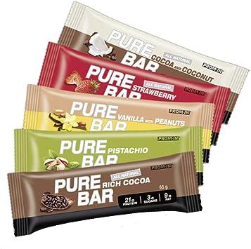 All natural high percantage protein low carb ESSENTIAL PURE BAR de PROM-IN   Todo natural barra de proteína, baja en carbohidratos (Pistacho)