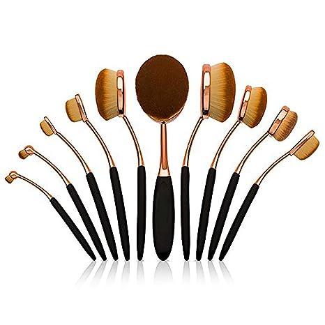 Kapmore Cepillos de Maquillaje,Brochas de Maquillaje Profesional Pinceles Maquillaje de Ojos Rubor Contorno de