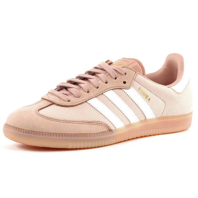 Adidas Samba Damen Schuhe Rosa mit weißen Streifen