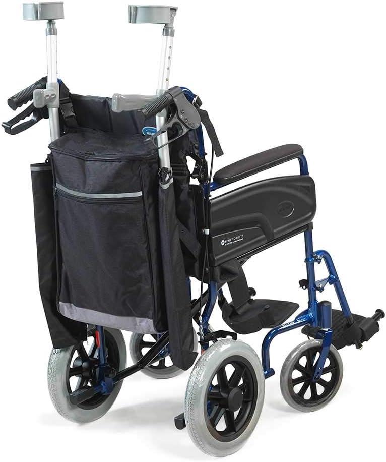 NRS Healthcare - Palo reflectante para silla de ruedas, color negro y gris