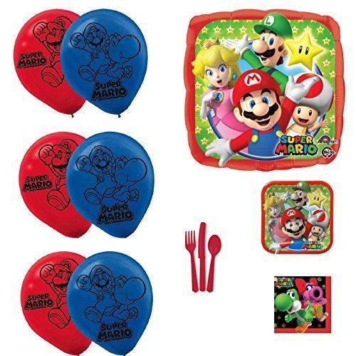 We Got It Shop Super Mario Party Supplies and Balloons Bundle -