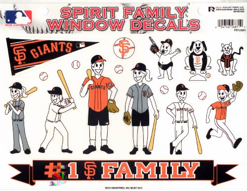 MLB San Francisco Giants Spirit Family Window Decals