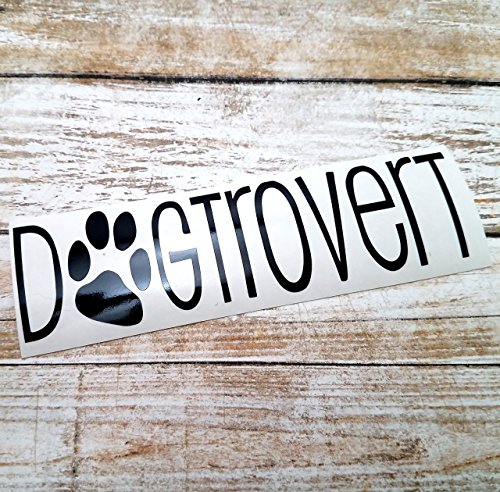 [Dogtrovert Decal Sticker for Dog Lovers for use on Car Truck Laptop YETI RTIC Tumbler] (Best Internet Meme Costumes)