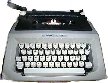 Maquina de escribir OLIVETTI LETTERA 40 Vintage: Amazon.es: Oficina y papelería