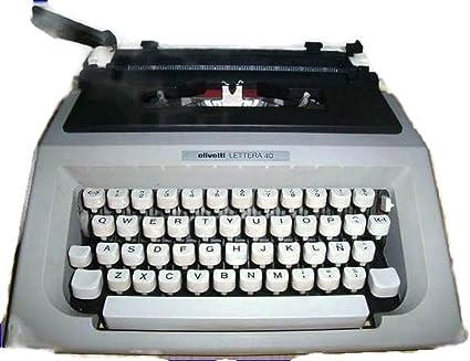 Maquina de escribir OLIVETTI LETTERA 40 Vintage