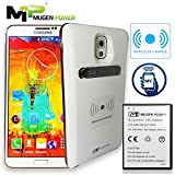 MugenPower Samsung Galaxy Note 3 NFC & Wireless Charging 6500mAh Extended Battery Better hand Grip Back Cover [Samsung Galaxy NOTE 3, N9000, N9005, N900V, N900T, N900A, N900P]- White