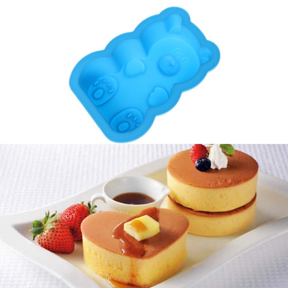 sumaju Kids niños oso de silicona molde de horno, antiadherente para hornear moldes de chocolate moldes para gelatina: Amazon.es: Hogar