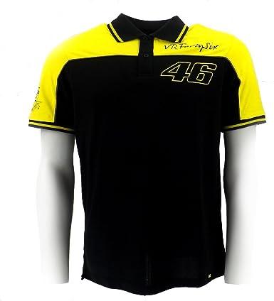 Polo de Moto GP Valentino Rossi VR46 amarillo Panel negro oficial ...