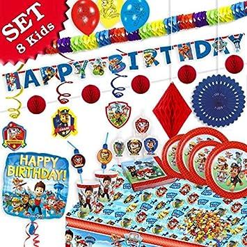Paw Patrol Cumpleaños Decoración de cumpleaños, 76 piezas ...