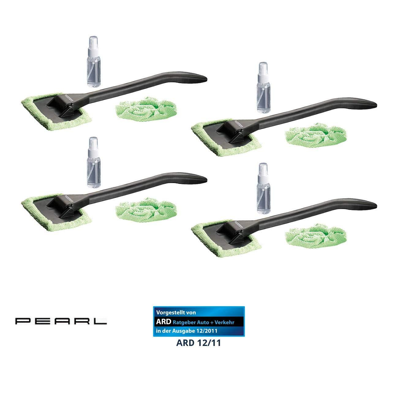 PEARL Scheibenreiniger: Windschutzscheiben-Wunder mit Gelenk-Kopf & Pump-Sprü hflasche, 4er-Set (Auto Scheibenreiniger)