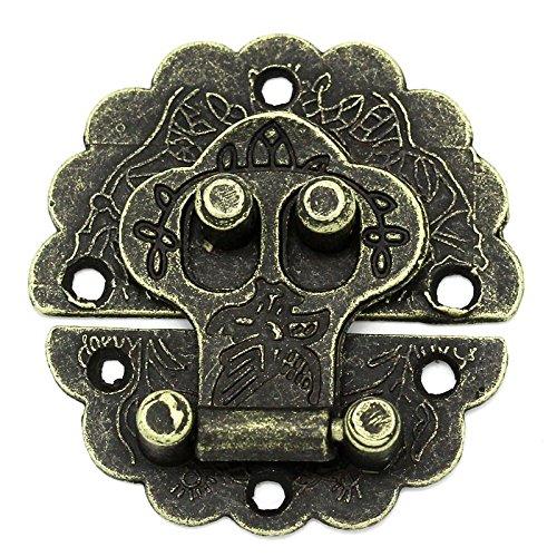 maDDma ® 5 x Truhenverschluss Truhenschloss Schnappverschluss 4, 1x4cm antikmessing