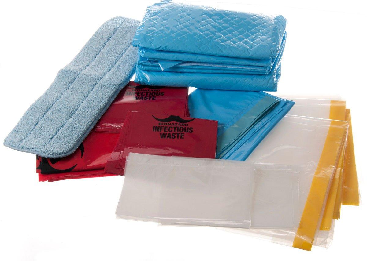 Medline DYKQSUITEM QuickSuite Microfiber or Clean-Up Kits (Pack of 10)