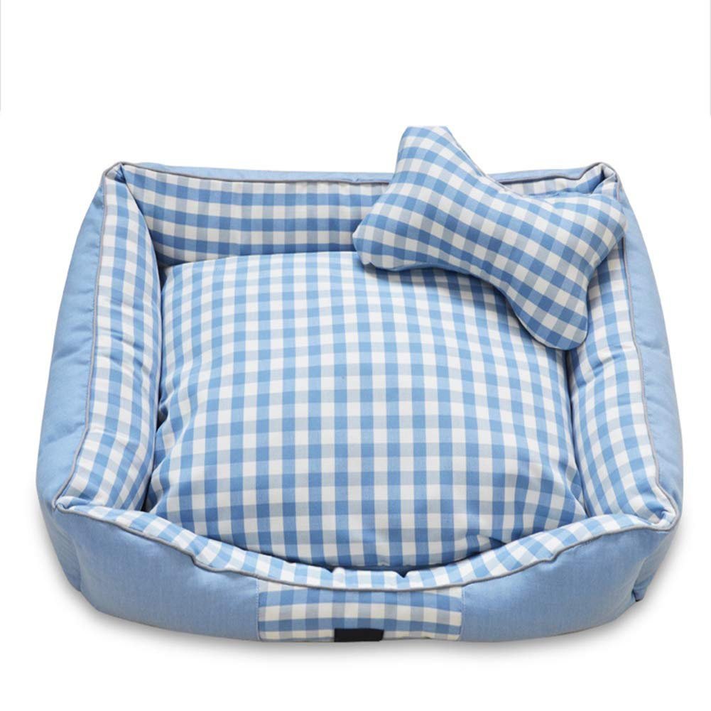 bluee XX-Large bluee XX-Large Soft Pet Nest Bed Dog Cave Cat Sofa Kennel Cat House,Washable Warm Indoor Suitable for Small, Medium,Large Animals,bluee,XXL