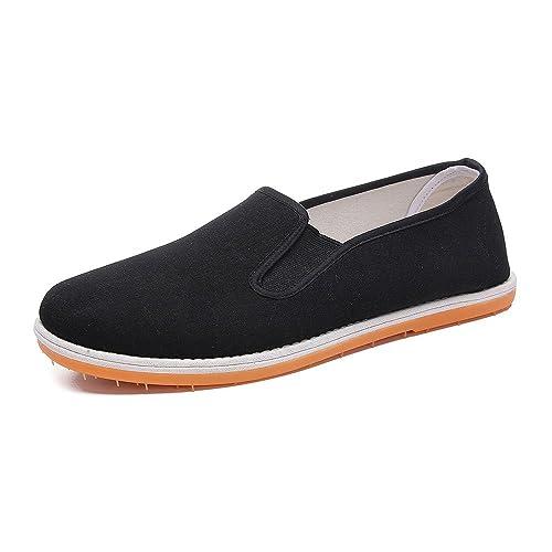 KIKIGOAL Suela de Goma China Tradicional Viejo Beijing Zapatos Unisex de los Zapatos de Artes Marciales