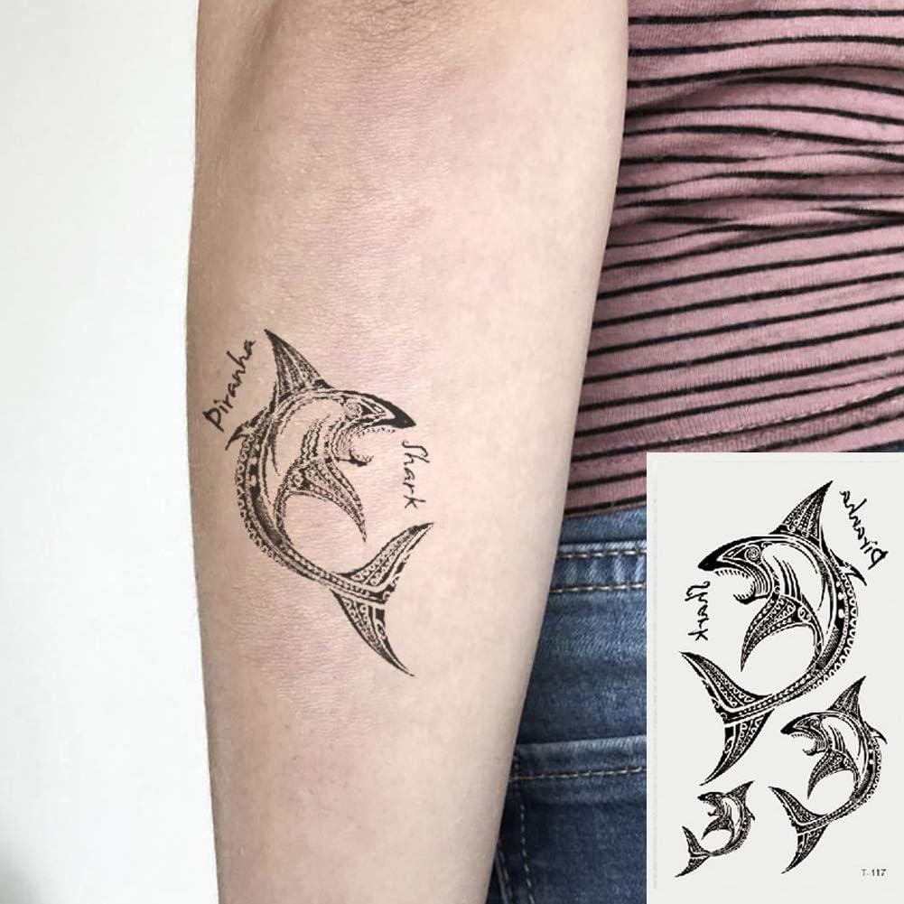 Oottati 2 Hojas Pequeño Lindo Tatuaje Temporal Tattoo Pescado ...