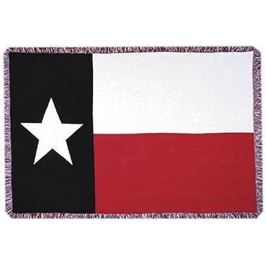 Simply Home Texas State Flag 3 Layer Afghan Throw Blanket 50  x 70  SKU 3106