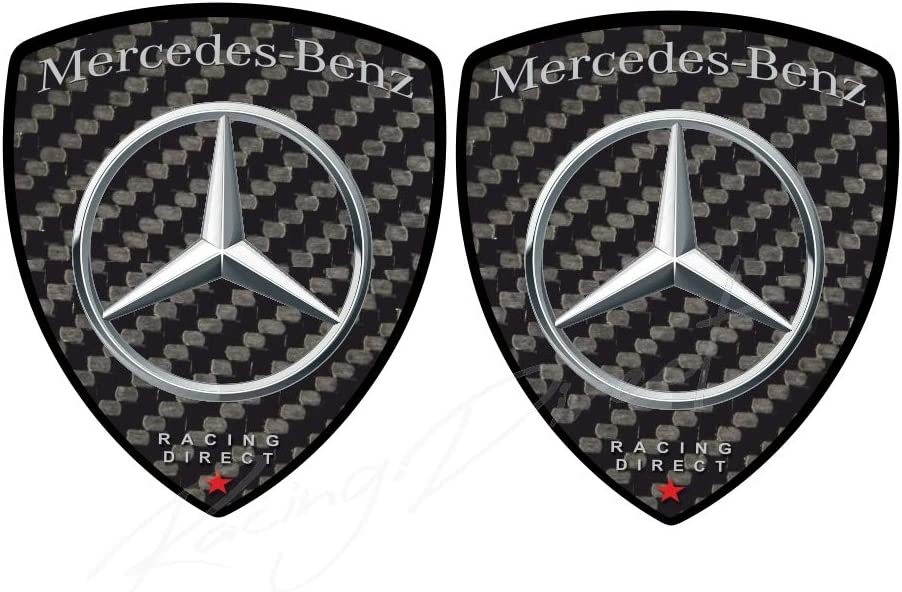 Racing Direct Aufkleber Mercedes Benz Amg 2 Stück Carbon Look Mit Logo Autozubehör Deko Für Klasse A B C E S Gla Glb Glc Gle Eqc Cla Cls Auto