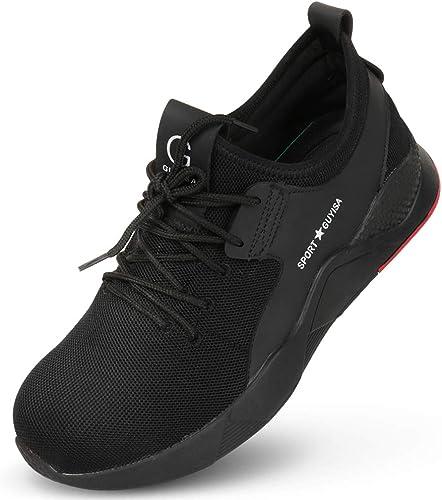 Men Steel Toe Safety Work Shoes,Mesh