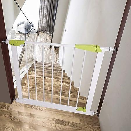 Puertas de bebé Puertas Extra Anchas de Metal para Puertas de Entrada de escaleras, Perro Protector de Pared Cate con Puerta de Cierre automático, 75-194 cm Ancho, Blanco/Azul/Verde: Amazon.es: Hogar