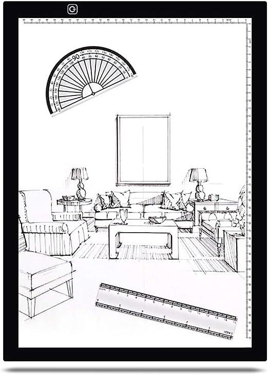 NINI A3 Mesa de Copia LED Linyi Taiwán Tablero de luz Anime Caja de luz caligrafía boceto Dibujo Pintura: Amazon.es: Deportes y aire libre