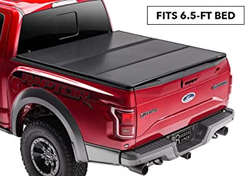 Amazon Com Rugged Liner Premium Hard Folding Truck Bed Tonneau Cover Hc F6515 Fits 15 18 Ford F 150 6 5ft W O Utility Track 6 5 Bed Automotive