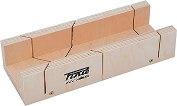 Caja de Ingletes de Contrachapado de Abedul 240x60x35 MM: Amazon ...
