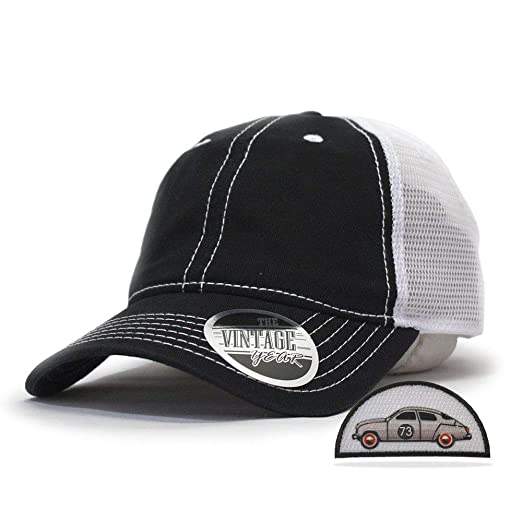 a28ca3e76 Vintage Year Washed Cotton Low Profile Mesh Adjustable Trucker Baseball Cap