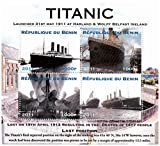 Titanic stamps - Stamp sheet celebrating the RMS Titanic - Mint and never mounted stamp sheet with 4 stamps
