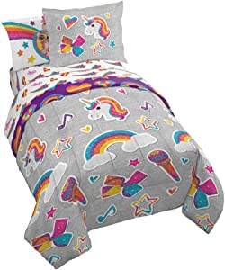 Jay Franco Nickelodeon JoJo Siwa Rainbow Sparkle Bed Set, Full