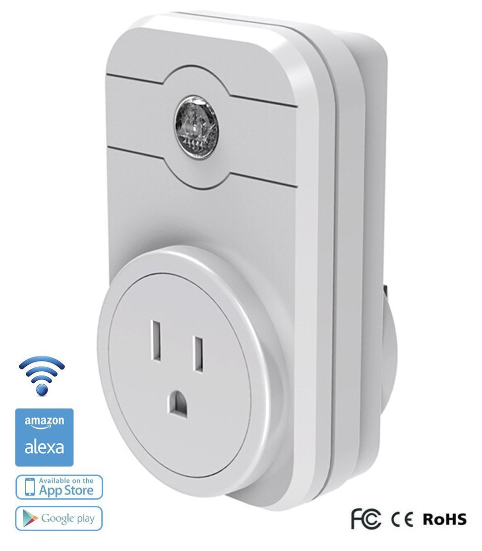 Smart Plug , KuGi Mini Wifi Smart Plug, Wireless Remote Repeater Smart AC Plug Outlet Power Switch Socket, No Hub Required, Control your Devices from Anywhere, Compatible with Alexa. (White X1)