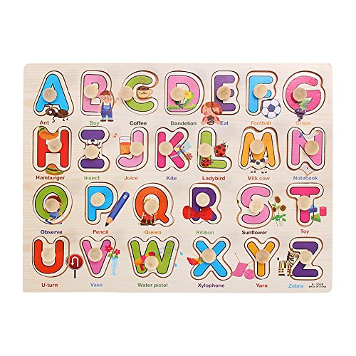 for Kids See-Inside ABC/123 Jigsaw Educational Toy (See Inside Alphabet Puzzle)