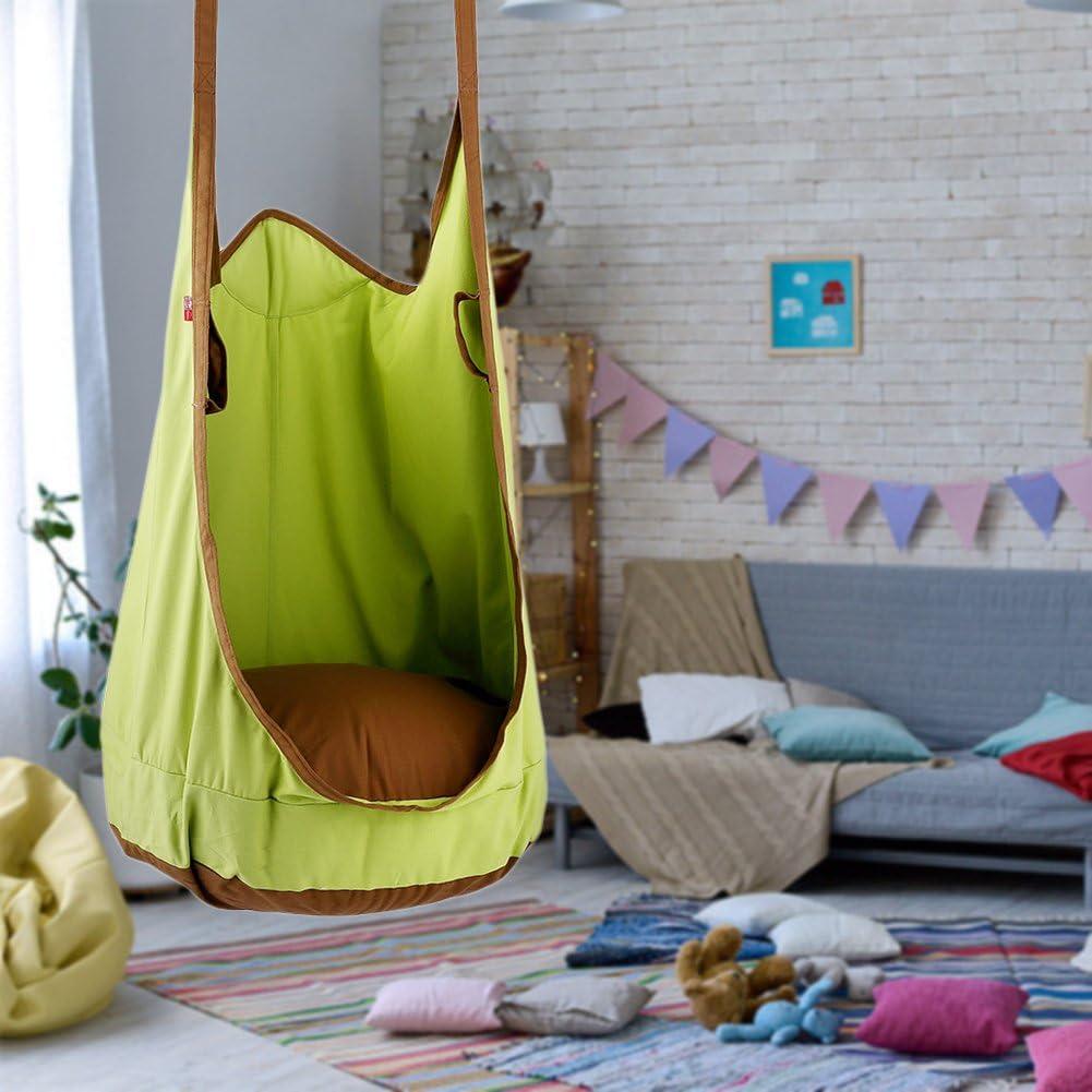 WUYANSE pour Enfant balan/çoire Swing de Toile de Coton Green dint/érieur et dext/érieur Double-Usage Sac Hamac Grenouille /à Suspendre Swing
