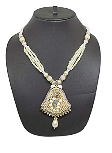 0028cdfac9 Buy Ekan Pearl Jewellery Set for Women, Best for Festival Gift, 40gm Pack  of 1 Online at Low Prices in India | Amazon Jewellery Store - Amazon.in