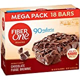 Fiber One Brownies, 90 Calorie Bar, Chocolate Fudge Brownie,0.89 Ounce , 18 Count (Pack of 2)