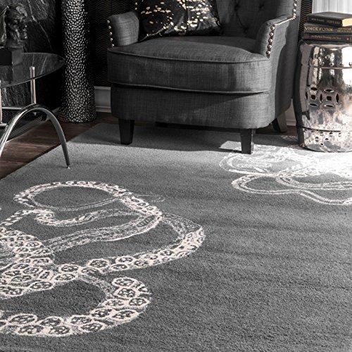 Handmade Octopus Tail Faux Silk/Wool Area Rug